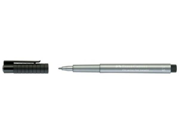 Filzstift Faber-Castell Pitt Artist Pen 1,5mm silber metallic 251