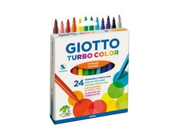 Filzstift Giotto Turbo Color 24er Set im Kartonetui