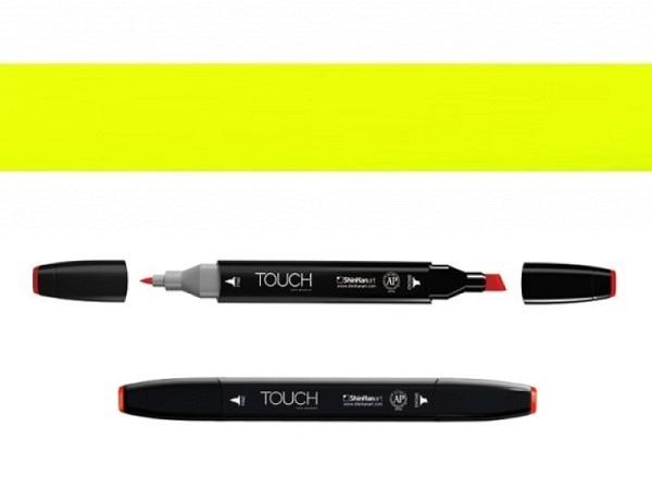 Filzstift Touch 123 Dopplespitz Fluor. Yellow 1,5-6mm/1mm