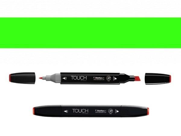 Filzstift Touch 124 Doppelspitz Fluor. Green 1,5-6mm/1mm
