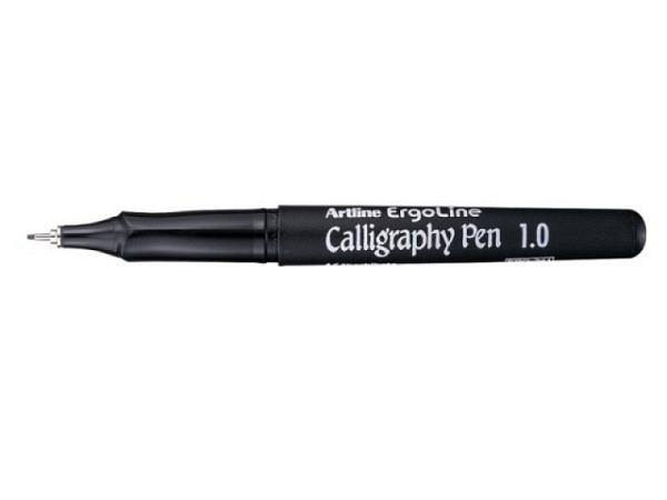 Filzstift Artline Calligraphy blau 3mm m.Clip