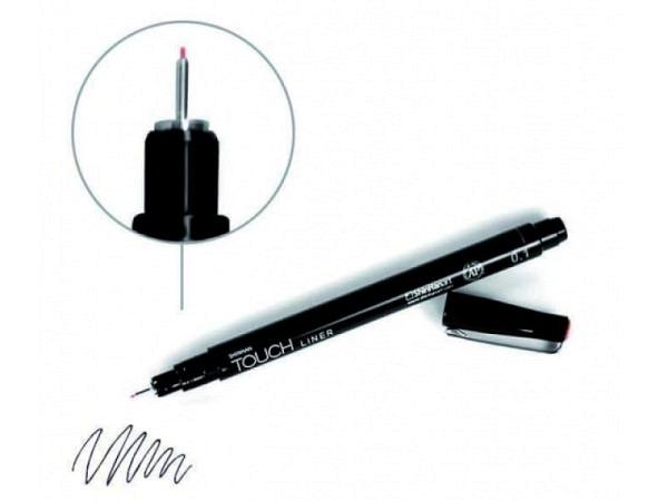 Filzstift Touch Liner 0,1mm schwarz, säurefrei