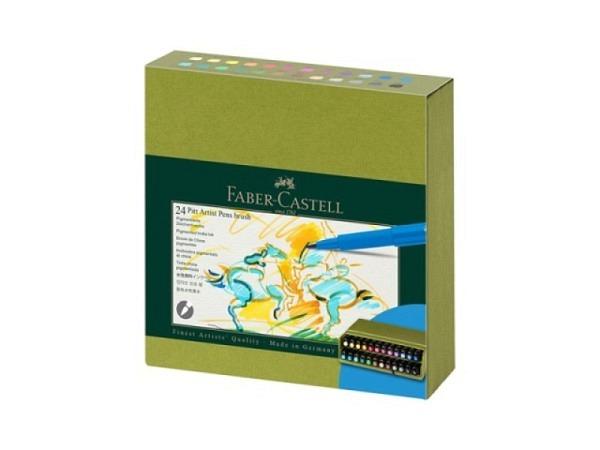Pinselstift Faber-Castell Pitt Artist Pen B 6er Shades blue