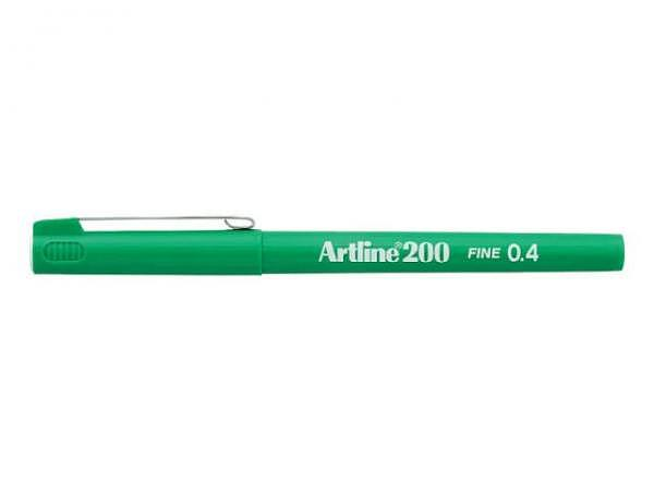 Filzstift Artline 200 grün 0,4mm mit feiner Plastikspitze