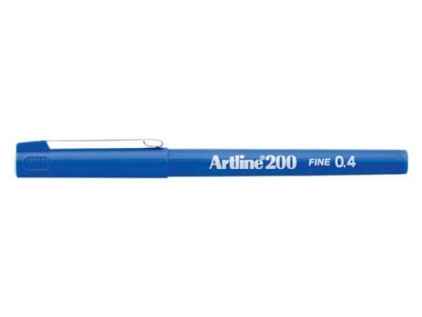 Filzstift Artline 200 blau 0,4mm mit feiner Plastikspitze