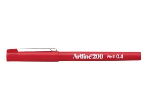 Filzstift Artline 200 rot 0,4mm mit feiner Plastikspitze