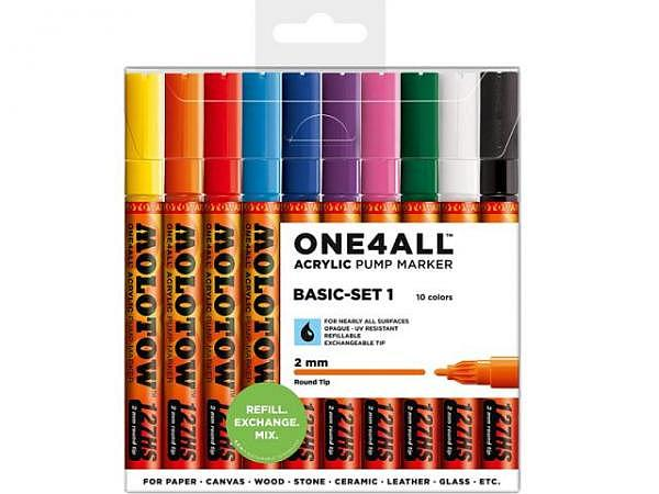 Filzstift Molotow One4all 127HS 10er Set Basic 2mm rund