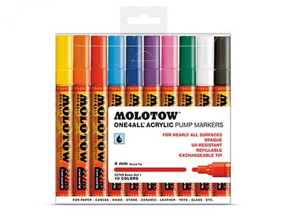 Filzstift Molotow One4all 10er Set 4mm Crossover-Spitze