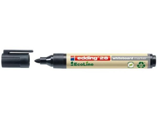 Filzstift Edding 28 EcoLine Permanent Marker schwarz 1-3mm