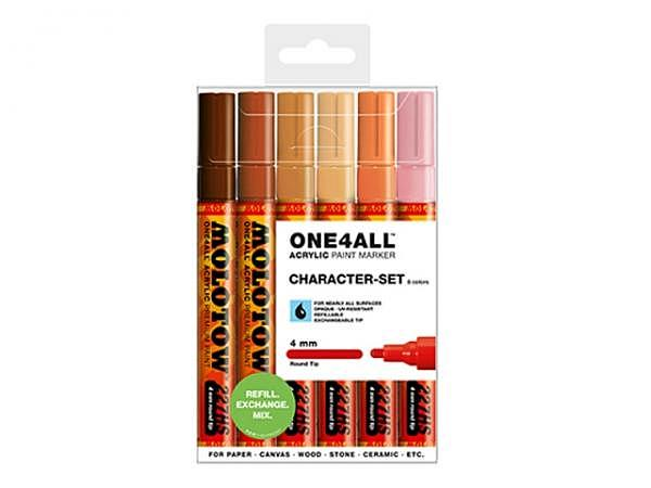 Filzstift Molotow One4all 227HS 6er Set Characters, 4mm