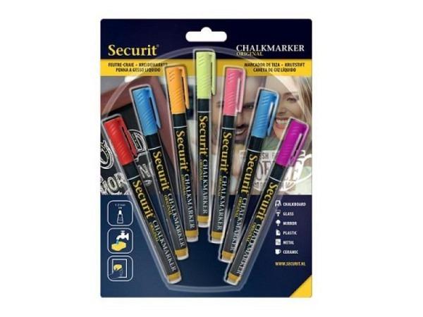 Filzstift Securit Kreidemarker SMA100 7er-Set farbig
