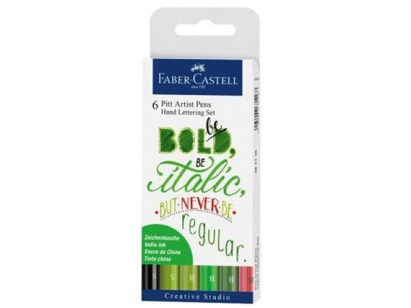 Filzstift Faber-Castell Pitt Artist Pen Handlettering 6er Grün