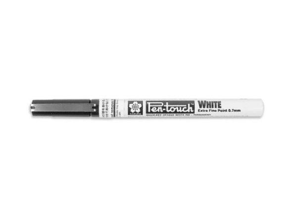 Filzstift Pen-Touch Marker Extra Fine 0,7mm weiss