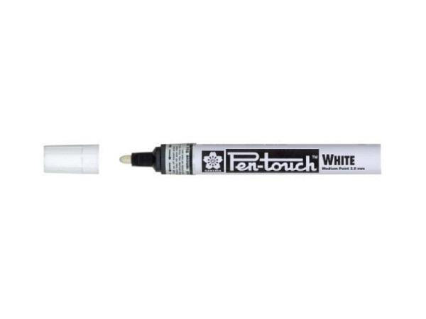 Filzstift Pen-Touch Marker Medium 2,0mm weiss