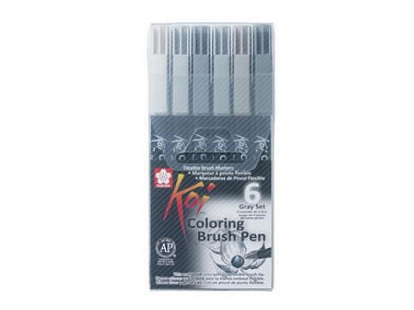 Pinselstift Sakura Koi Coloring Brush Pen 6er Set sortiert