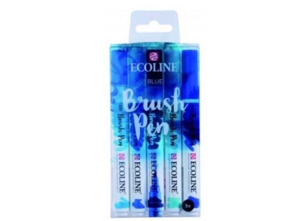 Pinselstift Talens Ecoline Brush Pen 5er Set Kleuren Blautöne