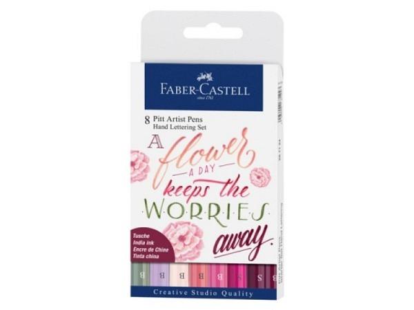 Filzstift Faber-Castell Pitt Artist Pen Brush 8er Set Handlettering