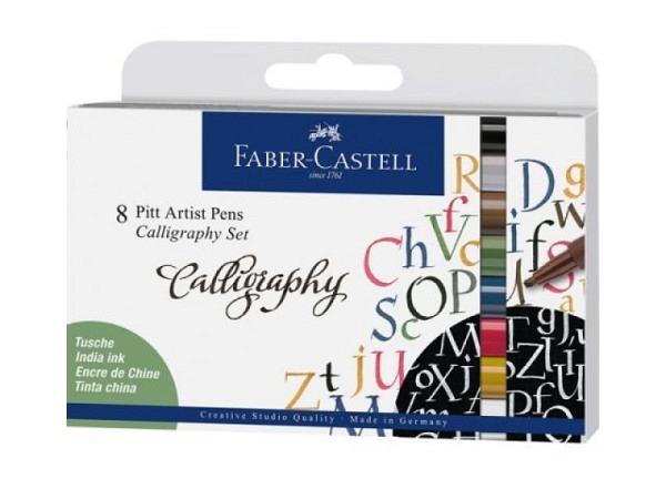 Filzstift Faber-Castell Pitt Artist Pen calligraphy 8er Set