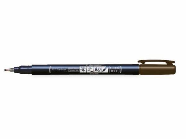 Pinselstift Tombow Fudenosuke Brush Pen Hard braun