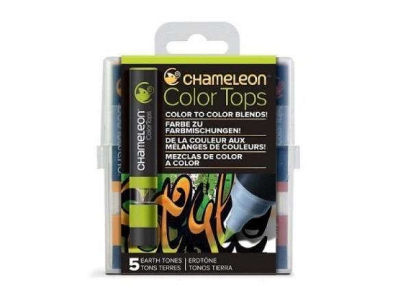 Pinselstift Chameleon Color Tops Set 5Stk. Earth, alkoholbasierte, w..
