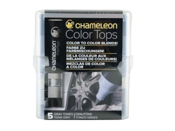Pinselstift Chameleon Color Tops Set 5Stk. Grey, alkoholbasierte, wa..