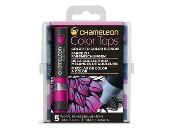 Pinselstift Chameleon Color Tops Set 5Stk. Floral, alkoholbasierte, ..