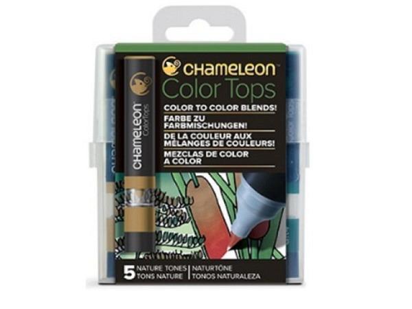 Pinselstift Chameleon Color Tops Set 5Stk. Nature, alkoholbasierte, ..