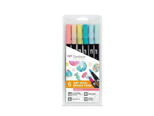 Filzstift Tombow ABT Dual Brush Pen Set 6er Candy Colors
