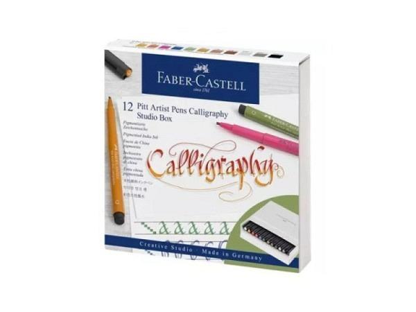Filzstift Faber-Castell Pitt Artist Pen calligraphy 12er Set Atelierbox