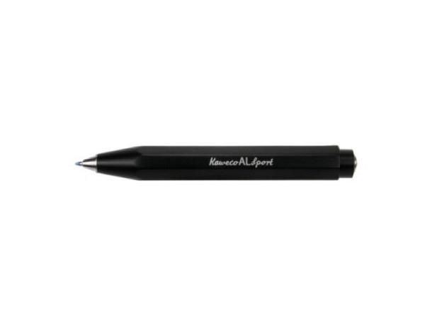 Kugelschreiber Kaweco AL Sport schwarz achtkant. Aluminium