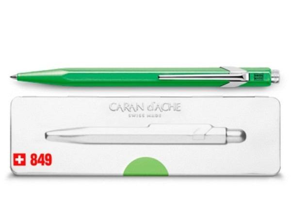 Kugelschreiber Caran dAche 849 Popline Fluo grün