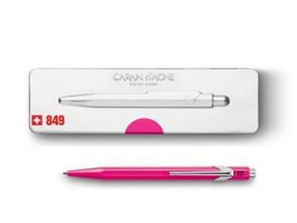 Kugelschreiber Caran dAche 849 Popline Fluo rosa
