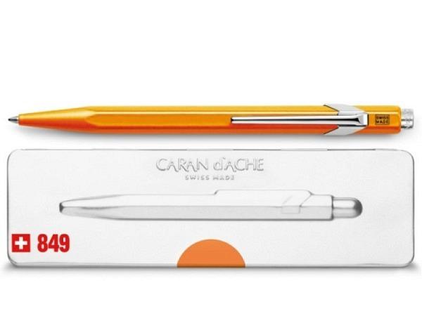 Kugelschreiber Caran dAche 849 Popline Fluo orange