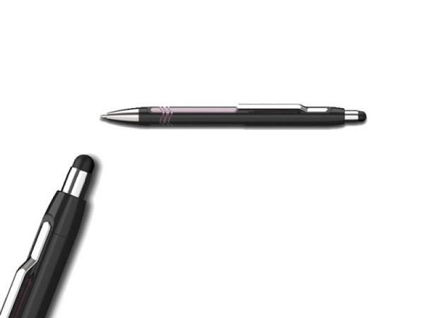 Kugelschreiber Schneider Epsilon schwarz-pink, mit Touchpen