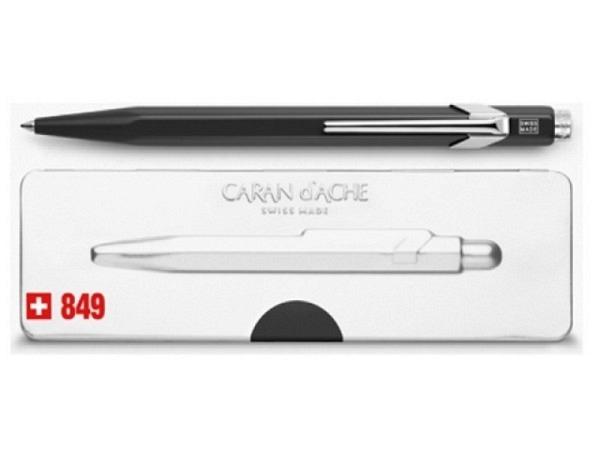 Kugelschreiber Caran dAche 849 Popline Fluo matt schwarz