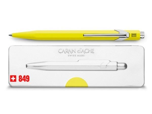 Kugelschreiber Caran dAche 849 Popline Fluo gelb