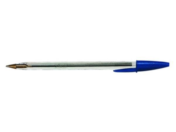 Kugelschreiber Bic Cristall mit Deckel schwarz Stärke 0,4 mm