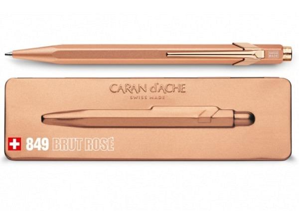 Kugelschreiber Caran dAche 849 Brut Rose, im Slimpack-Etui