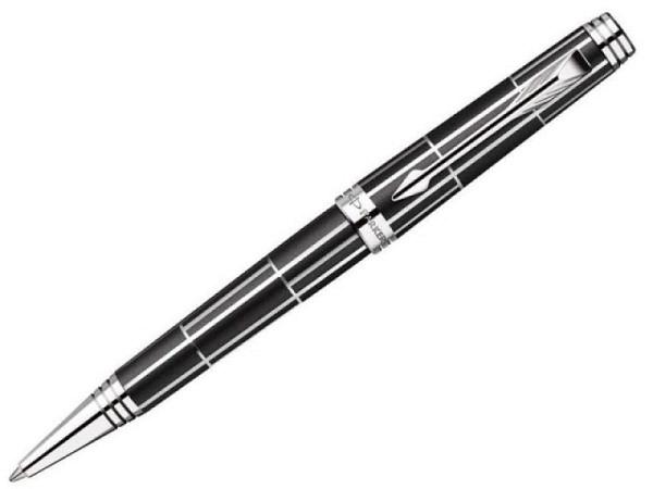 Kugelschreiber Parker Premier Luxury Black C.C., schwarz