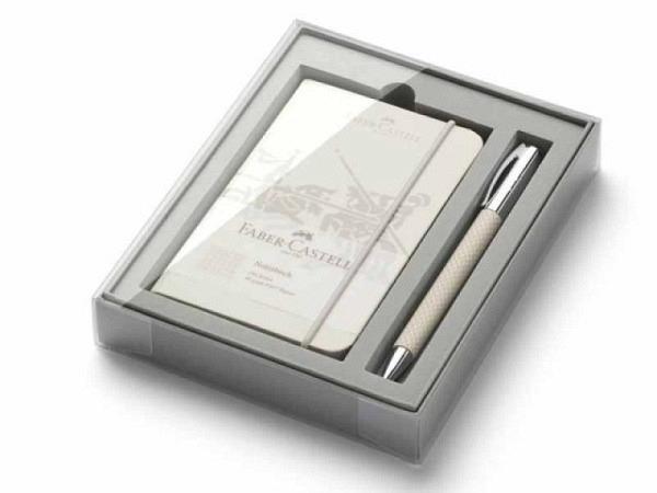 Kugelschreiber Faber-Castell Ambition White Sand Geschenkset