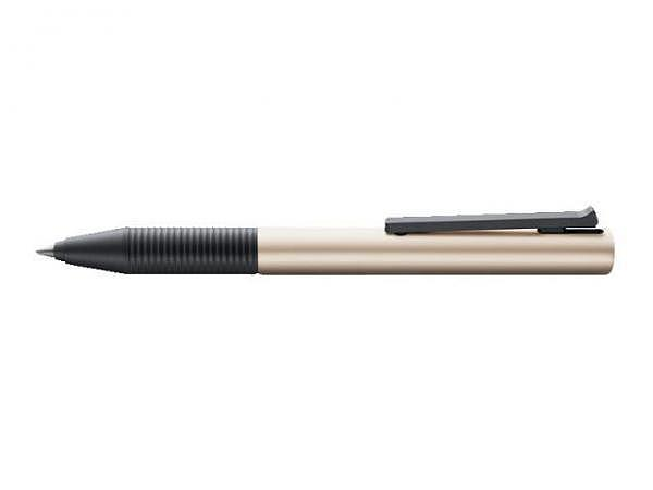 Roller Lamy Tipo Aluminium pearl eloxiert mit schwarzen Kunststoffbeschlägen
