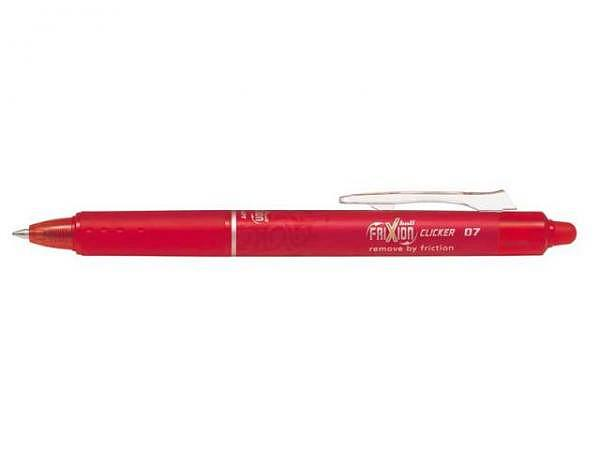 Roller Frixion Clicker 07 rot, mit einziehbarer Spitze