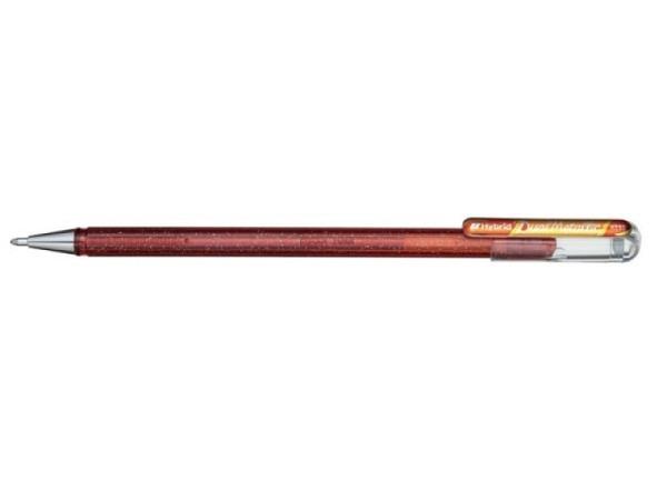 Roller Pentel Hybrid Gel Dual Metallic K110 orange/gelb
