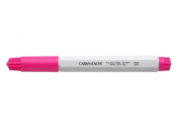 Leuchtstift Caran d'Ache Fibralo breit Fluo Line rosa