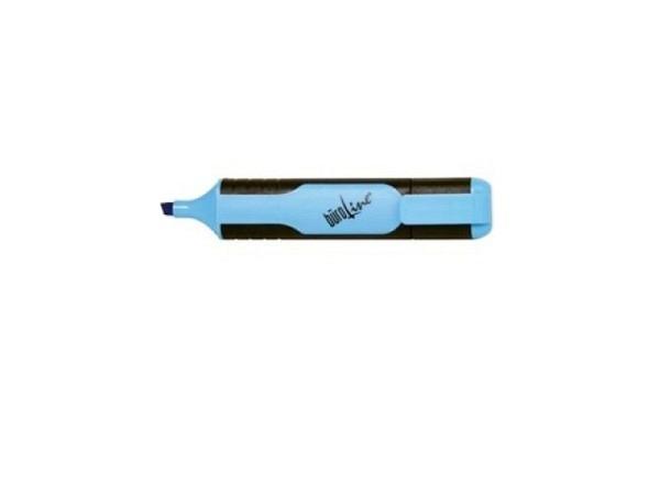 Leuchtstift Büroline mit Kappe mit Clip blau