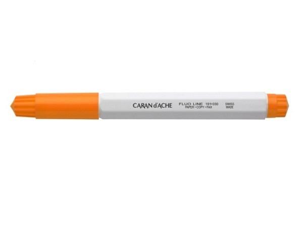 Leuchtstift Caran d'Ache Fibralo breit Fluo Line orange