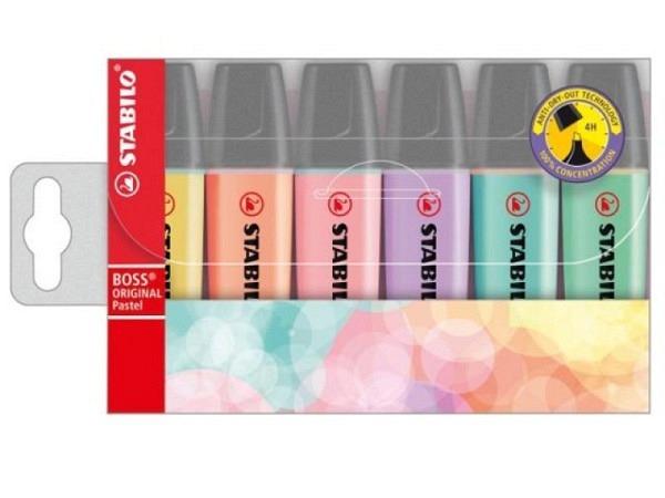 Leuchtstift Stabilo Boss Pastell 6er Etui