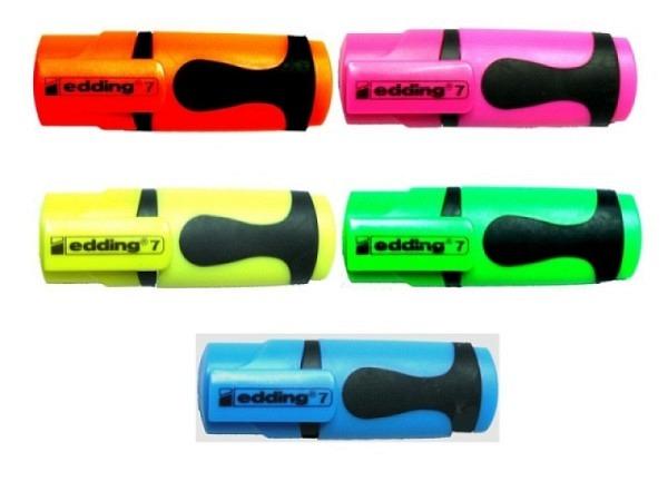 Leuchtstift Edding 7 Mini farbig assortiert, von 1–3mm
