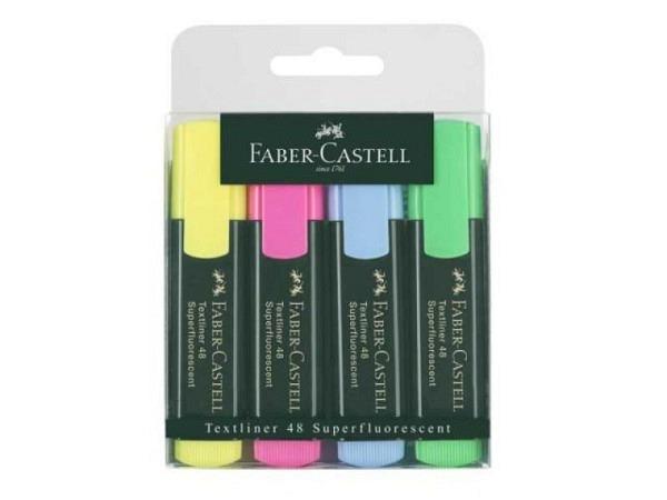Leuchtstift Faber-Castell Grip Marker Textliner 4er Set