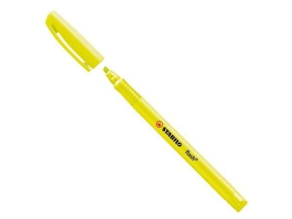 Leuchtstift Stabilo Flash gelb mit Clip